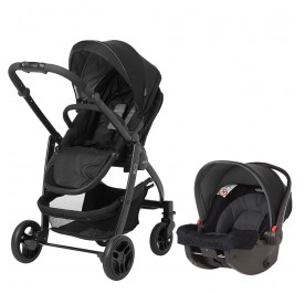 Graco Evo Travel System - Black Grey