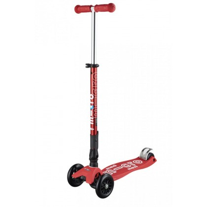 Micro 081 Maxi Deluxe Foldable Scooter for 5 to 12 years ~ Red