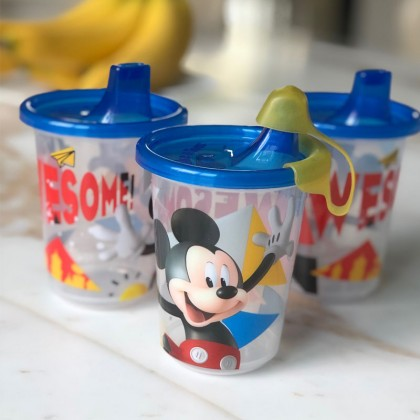 The First Year Mickey Awesome Take&Toss 10oz Sippy cup 3pk w/travel cap