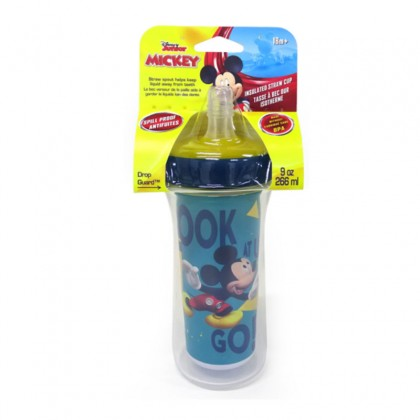 The First Years Disney Mickey Mouse insulated Straw Cup 9oz