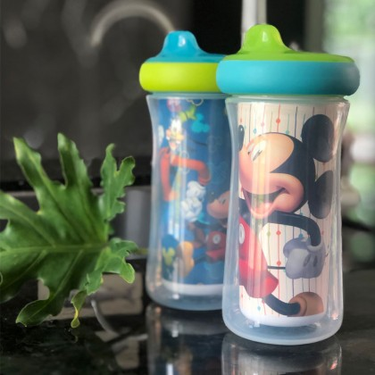 The First Years Mickey & Goofy Insulated Hard Spout 9oz - 2pc