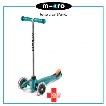 Micro Mini Classic Aqua LED, Swiss Designed For Preschool Age 2 To 5 Years Old
