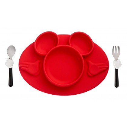 The First Years 11302 3-pc Silicon Mickey Meal Set
