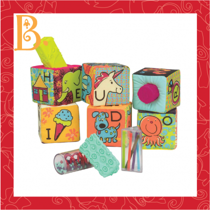 B.Toys 1368 ABC Block Party - 6pcs