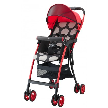 Aprica Magical Air S Light Weight (2.9kg) One Hand Fold Single Stroller- Red
