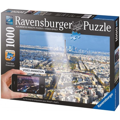 Ravensburger Puzzles Over Rooftops of Paris - 1000pcs