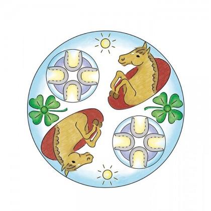 Ravensburger Puzzles 2 in 1 Mandala Horses
