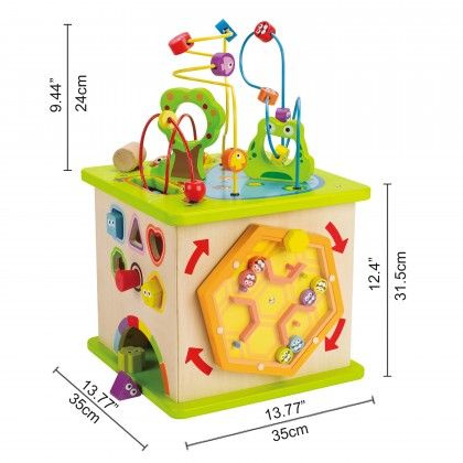 Hape 1810 Country Critter Play Cube for kids age 3 years +