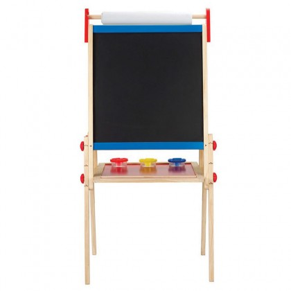 Hape 1010 Magnectic All-in-1 Adjustable Height Easel with Chalk and duster