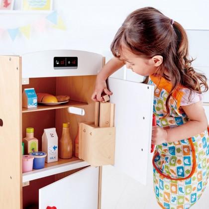 Hape 3153 White Fridge Freezer Kitchen Role Play Kids 3 years+