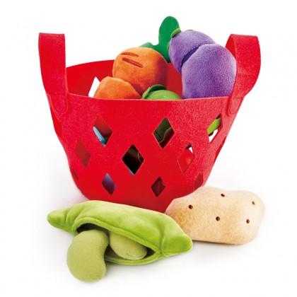 Hape 3167 Toddler Vegetable Basket Kitchen Play for Toddler 18 months