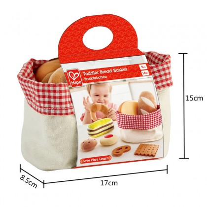 Hape 3168 Toddler Bread Basket Kitchen Role Play for Toddler 18 months+