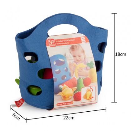 Hape 3169 Toddler Fruit Basket for Kitchen Play
