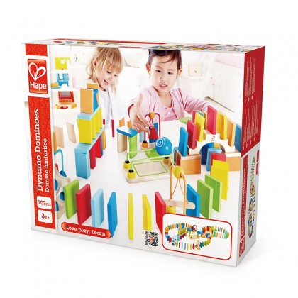 Hape 1042 Dynamo Dominoes STEM Toy for 3 years +