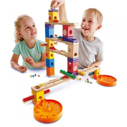 Hape 6012 Music Motion Quadrilla Marble Run STEM Toy for kids 3 years+