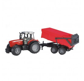 Bruder 02045 Messy Ferguson 7480 with Tipping Trailer