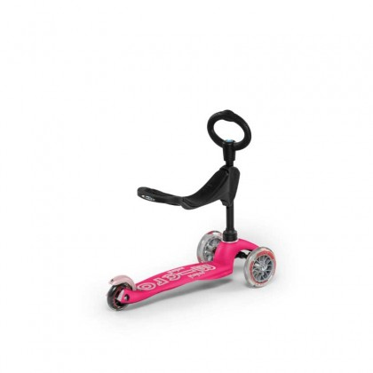 Micro Mini 3in1 Deluxe 009 3-Stage Ride-on for Ages 12 Months to 5 Years - Pink