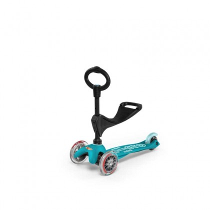 Micro Mini 011 3in1 Deluxe 3-Stage Ride-on for Ages 12 Months to 5 Years - Aqua