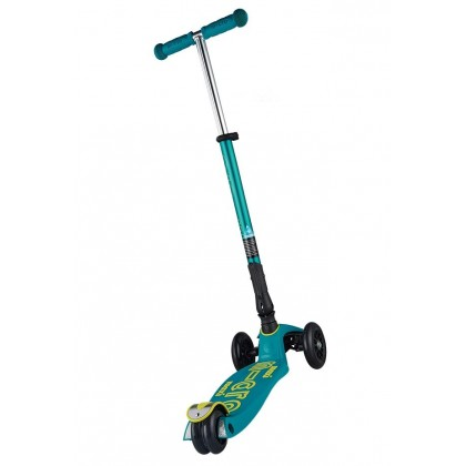 Micro Maxi Deluxe Foldable Scooter for kids age 5 to 12 yeras - Petrol Green