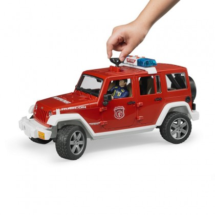 Bruder 02528 Jeep Wrangler Unlimited Rubicon Fire Dept Vehicle with Fireman