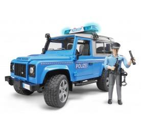 Bruder 02597 Land Rover Defender Police Vehicle & Policeman