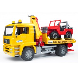 Bruder 02750 MAN TGA Breakdown Truck with Cross Country Vehicle