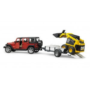 Jeep Wrangler Unlimited Rubicon, One Axle Trailer + CAT SKid