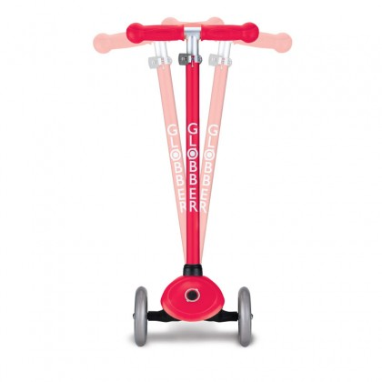 Globber 423-102-3 Primo Light Scooter for kids age 3 Up to 50 kg~ Red with Anodized T-bar