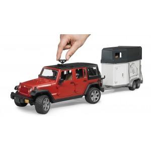 Jeep Wrangler Unlimited Rubicon, One Axle Trailer + 1 Horse