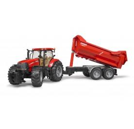 Case IH Puma 230 CVX Tractor with Tandem Halfpipe Trailer