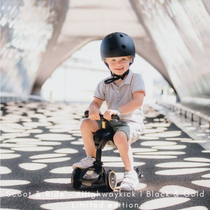 Scoot And Ride 96428 Highwaykick1 For Toddler 1- 5y - Limited Edition - Black/Gold