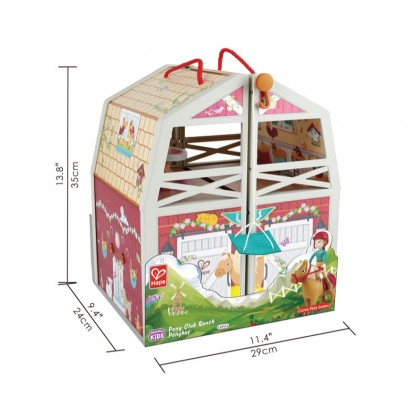 Hape 3409 Pony Club Ranch For 3y+ Role Playset