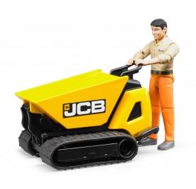 Bruder JCB Dumpster HTD-5 with Construction Worker