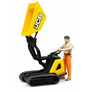 JCB Dumpster HTD-5 with Construction Worker