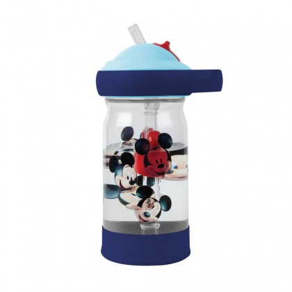 The First Year 11465 Mickey Sip & See Toddler Water Bottle w/ Floating Charm 12 Oz