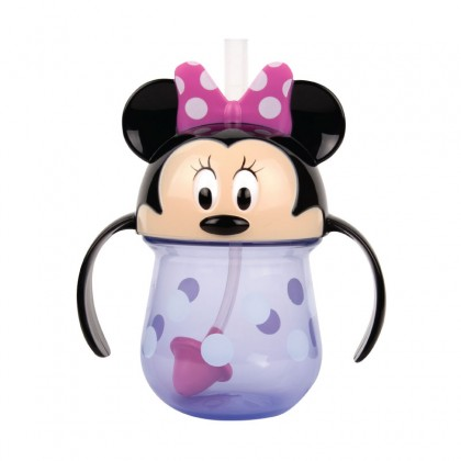 The First Year 11452 Minnie Weighted Straw Trainer Cup 7 Oz – Training Sippy Cup for Baby and Toddler
