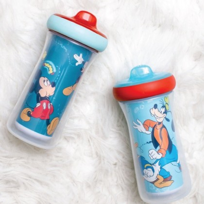 The First Year 11547 Disney Mickey Mouse Insulated Hard Spout Sippy Cups With One Piece Lid, 9 Oz-2 Pack