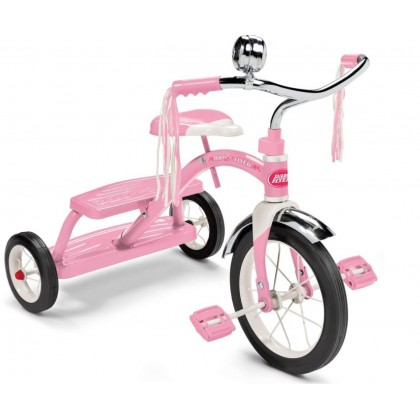 Radio Flyer Classic Pink Dual Deck Tricycle