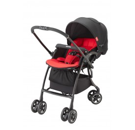 Aprica Luxuna Comfort One-hand Fold SIngle Stroller from Japan ~ Red
