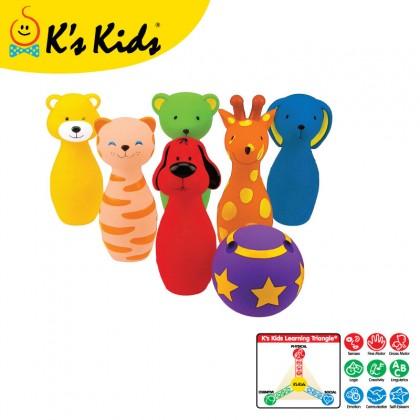 K's Kids KA10366P Colorful Bowling Friends