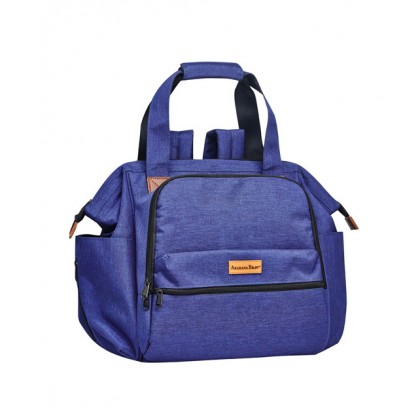 Nui Convertible Tote Diaper Backpack (Navy Blue)