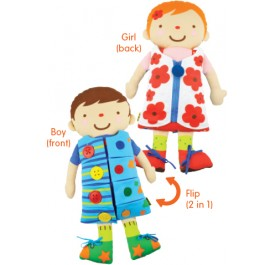 K's Kids 2 in 1 Dress Up Dolls