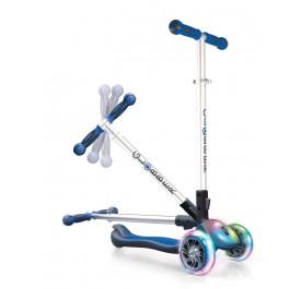 Globber Elite FL (Flash & Light) Wheels Scooter for 3+ ~ Navy Blue
