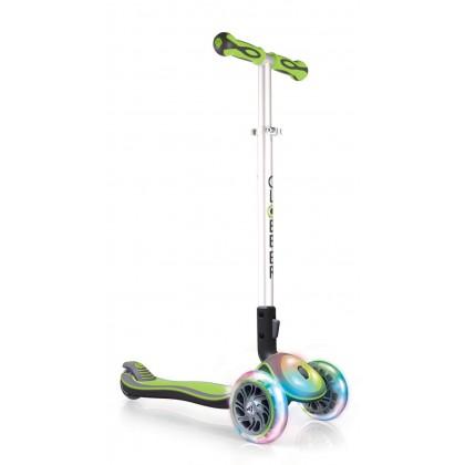 Globber Elite 449106 FL (Flash & Lights) Scooter for 3+ ~ Lime