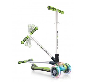 Globber Elite FL (Flash & Lights) Scooter for 3+ ~ Lime