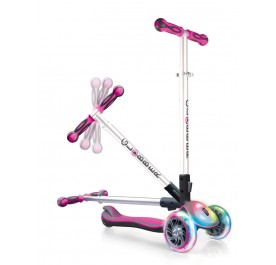 Globber Elite FL (Flash & Light) Wheels - Deep Pink