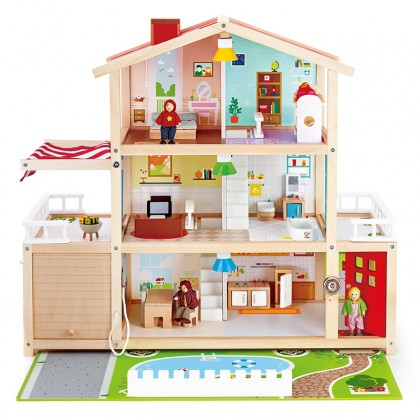 Hape 3405 Doll Family Mansion for kids age 3+