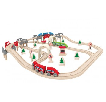 High & Low Railway Set