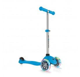 Globber Primo Lights Scooter for 3+ - Sky Blue