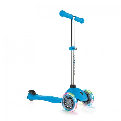 Globber 423101 Primo Lights Scooter for 3+ - Sky Blue